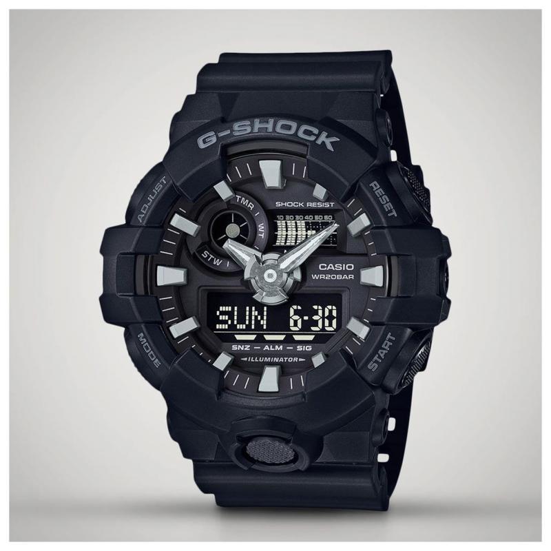 Casio Mens G Shock Alarm Chronograph Watch Black