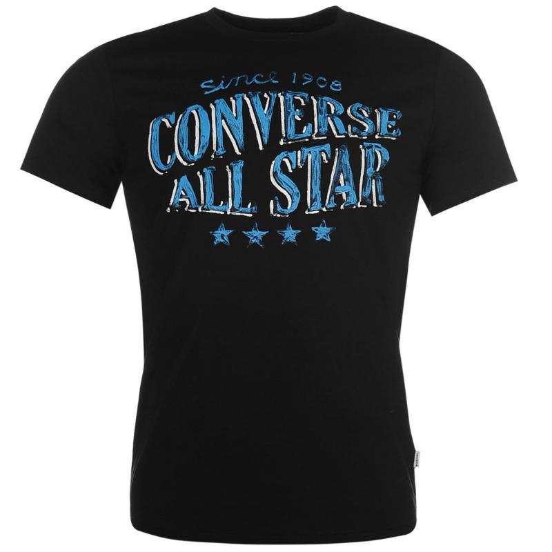 Tričko Converse Four Star T Shirt Black