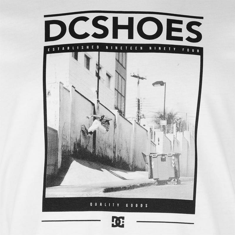 Tričko DC South Town Short Sleeve T Shirt Mens White