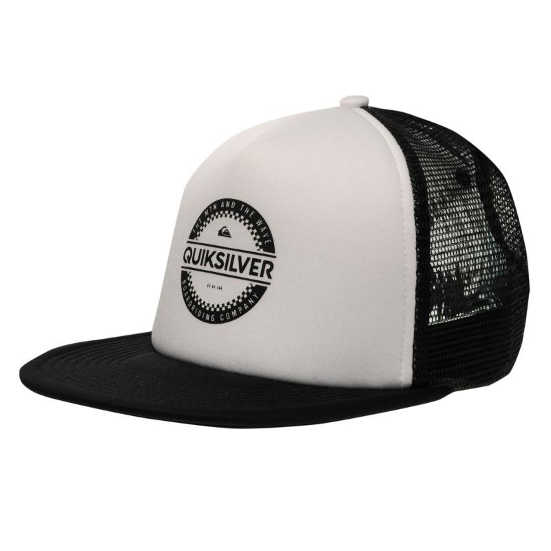 Quiksilver Circle Work Cap Mens White/Black