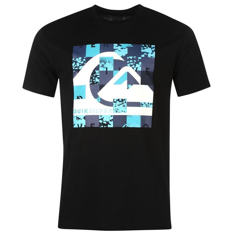 Tričko Quiksilver Pixel Short Sleeve T Shirt Mens Black