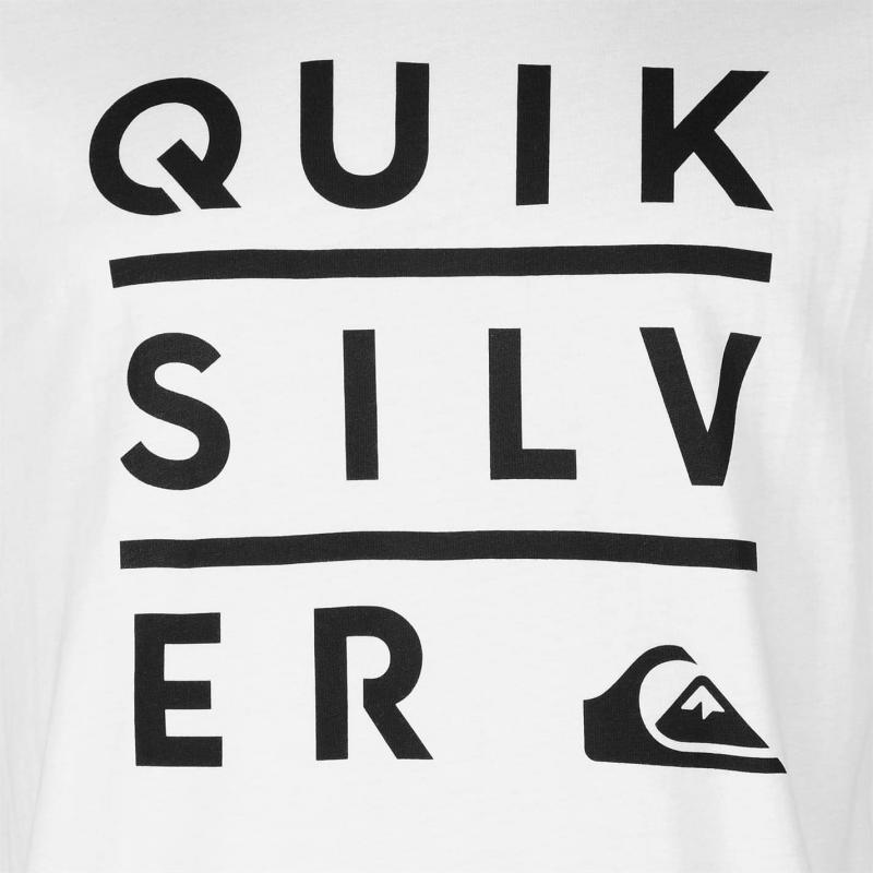 Tričko Quiksilver Stacked Short Sleeve T Shirt Mens White