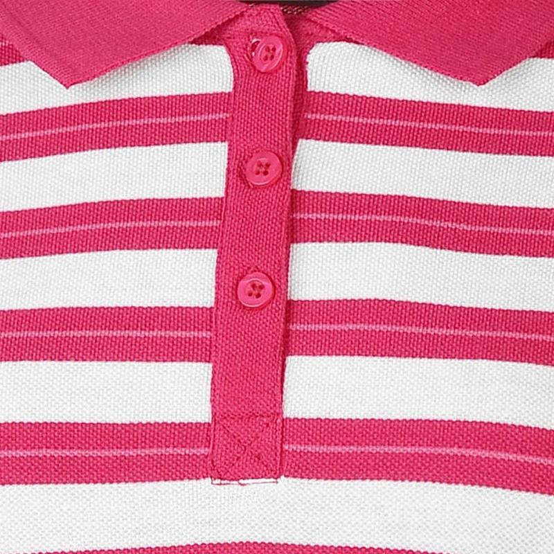 Polokošile Miso Stripe Polo Shirt Ladies Fuchsia