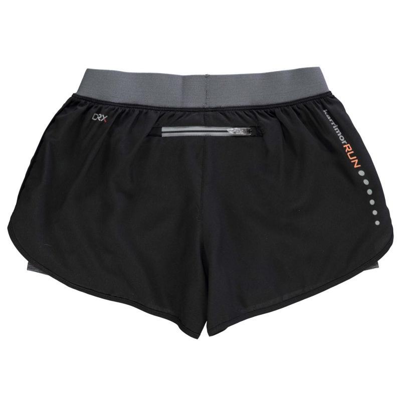 Karrimor X Lite 2 in 1 Shorts Junior Girls Black/IGry Marl
