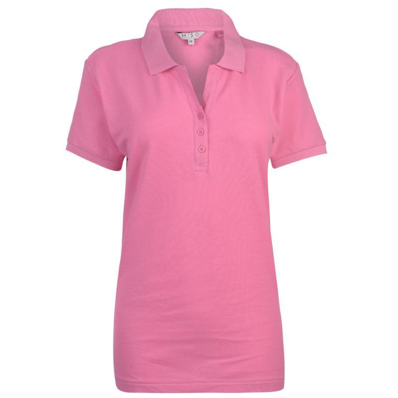 Polokošile Miso Plain Polo Shirt Ladies Pink