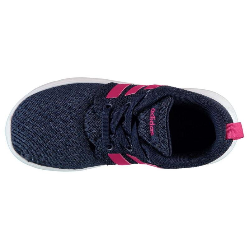 0a55fcb4903 Adidas Neo Swifty Infant Girls Trainers Navy Bold Pink