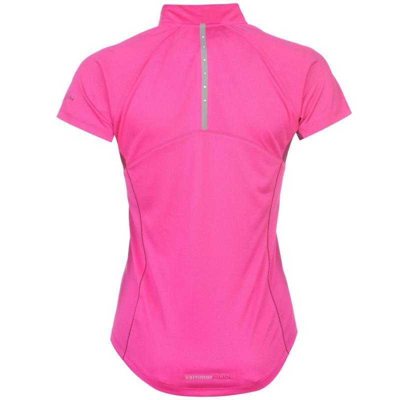 Karrimor X Running T Shirt Ladies Black Pink