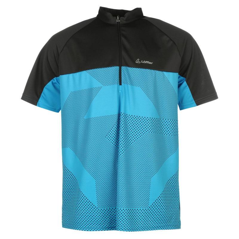 Tričko Löffler Loffler Ace Cycling Jersey Mens Blue/Black