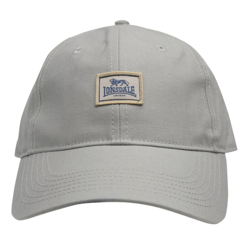 Lonsdale Patch Cap Mens Grey