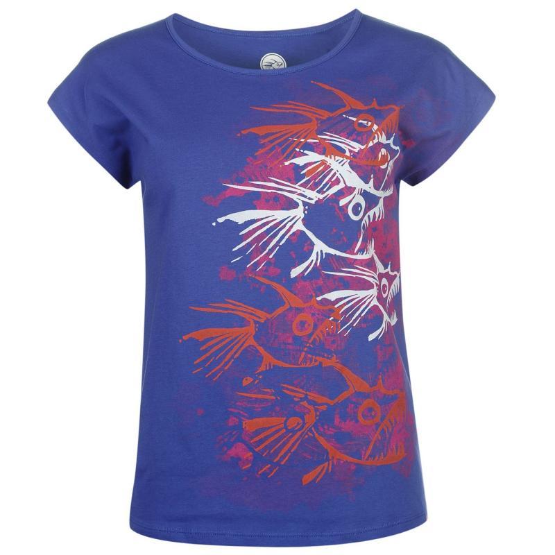 Hot Tuna T Shirt Ladies Purple Vnck