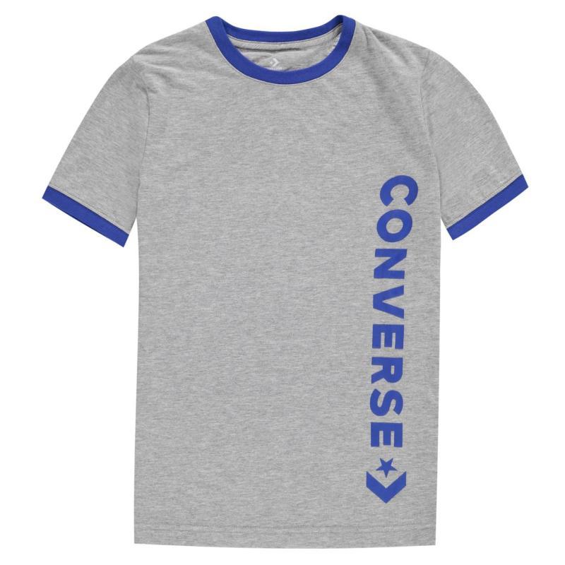 Tričko Converse Ringer T-Shirt Junior Boys Dark Grey
