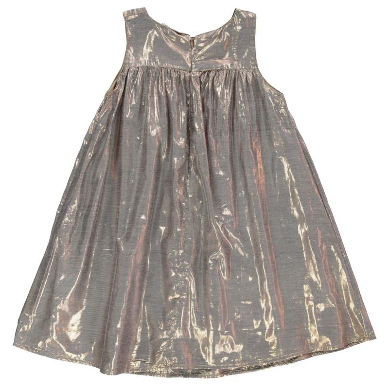 Šaty French Connection Metallic Dress Gold Metallic