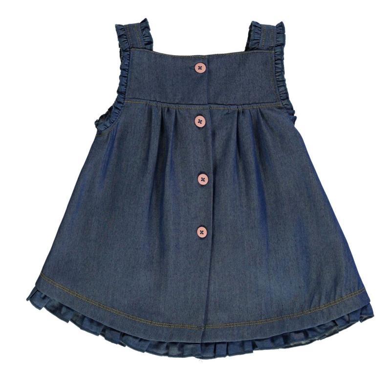 Crafted Mini 2 Piece Dress Set Denim pinny Velikost - 0-3 měsíce