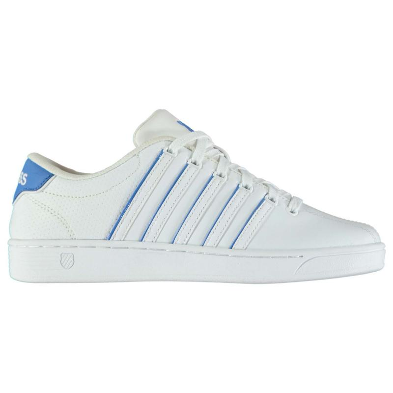 K Swiss Court Pro II Trainers Ladies White/Blue