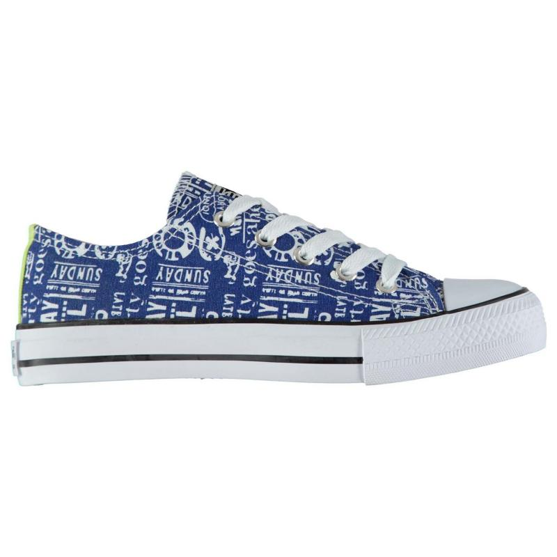 Boty Beppi Text Junior Canvas Shoes Blue