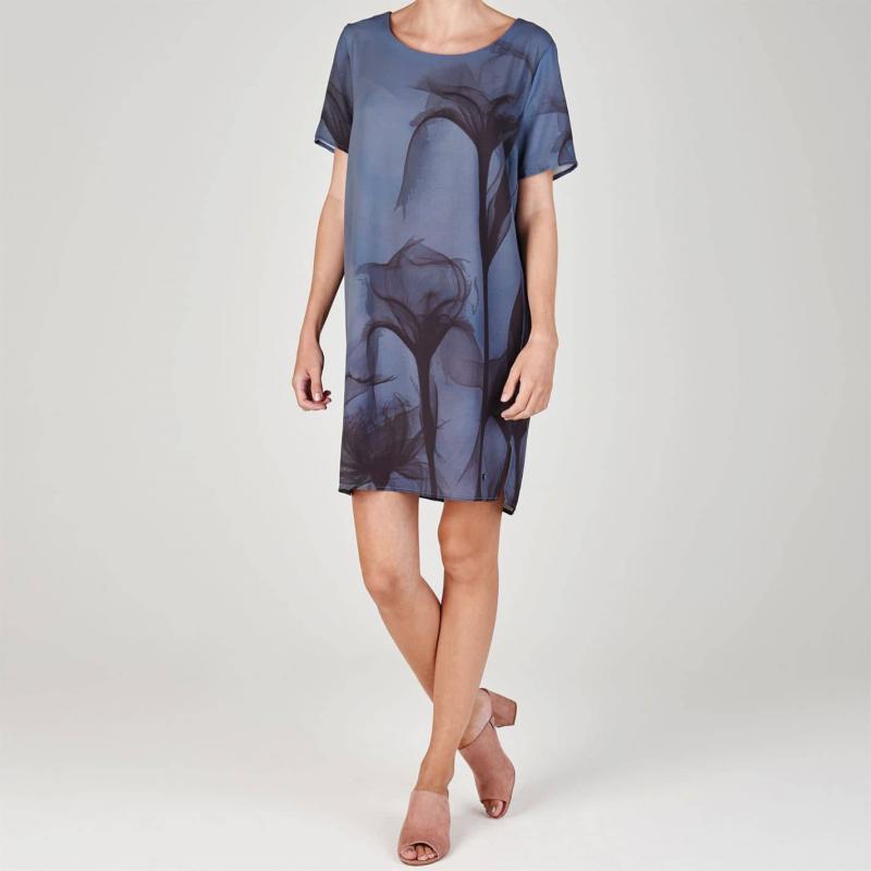 Šaty Firetrap Shift Dress Ladies Skeletal Blue