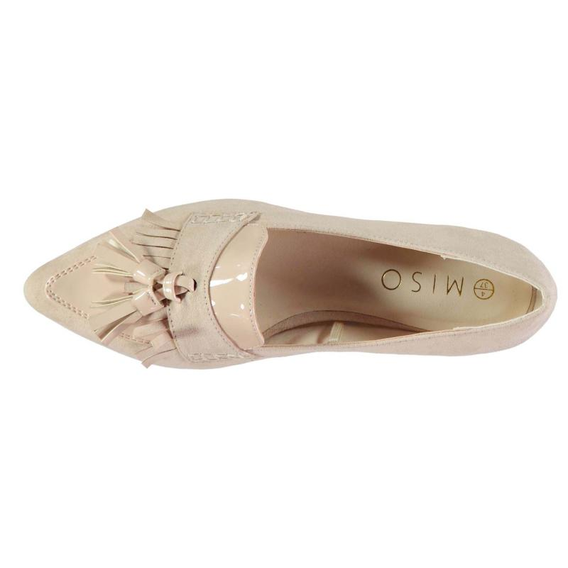 Miso Pam Point Ladies Loafer Shoes Nude Mix