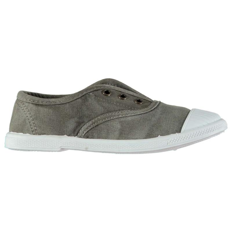 Beach Athletics Dolly Laceless Canvas Shoes Grey