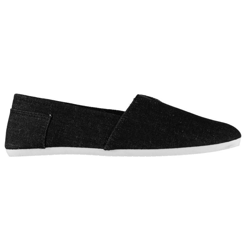Giorgio Canvas Sams Mens Shoes Black Denim