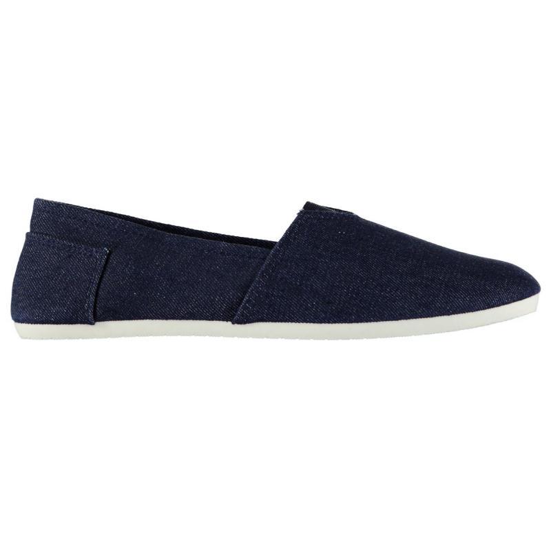 Giorgio Canvas Sams Mens Shoes Navy Stripe