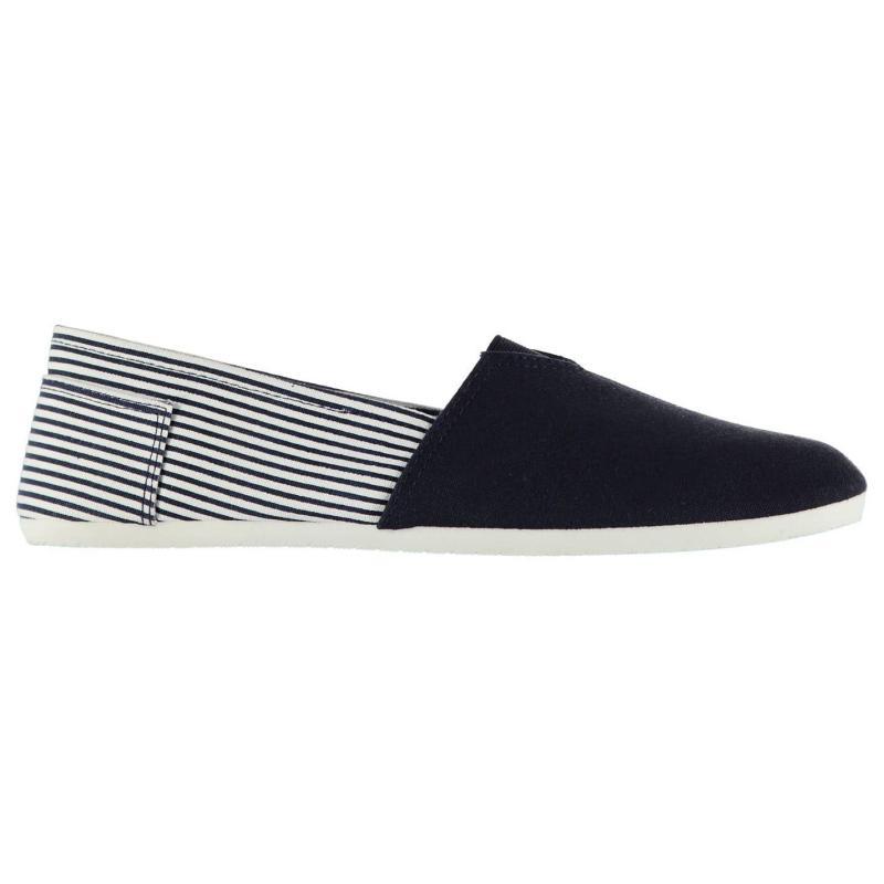 Boty Giorgio Canvas Sams Mens Shoes Navy Stripe