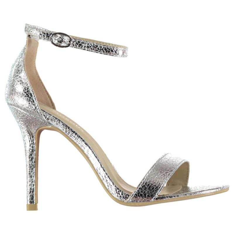 Boty Glamorous Strap Sandals Ladies Silver