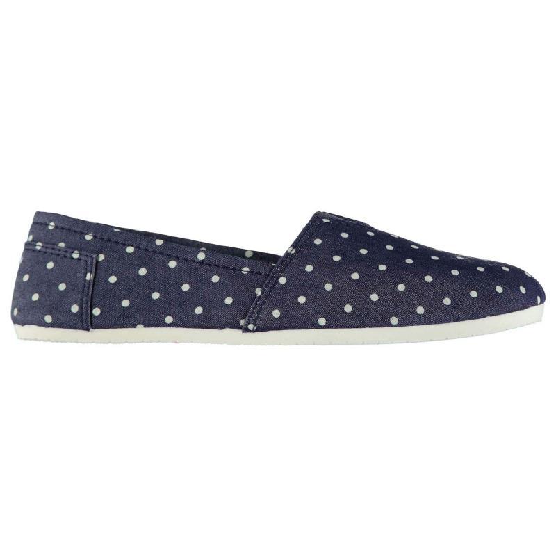 Obuv Miss Fiori Ladies Sams Canvas Shoes Navy