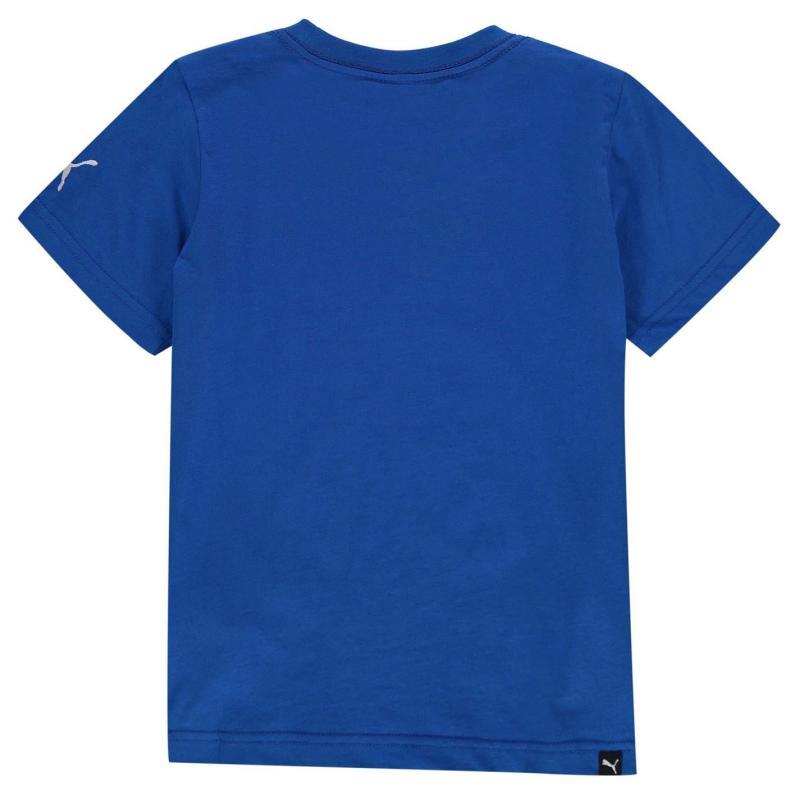 Puma Newcastle United Graphic T Shirt Junior Boys Royal