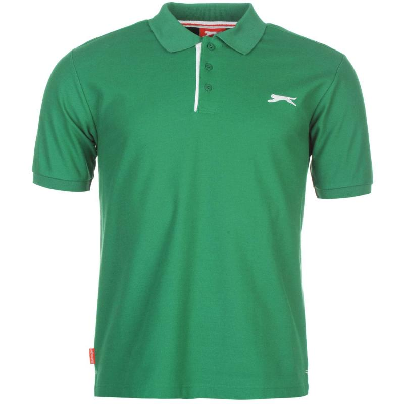 Slazenger Plain Polo Shirt Mens Green
