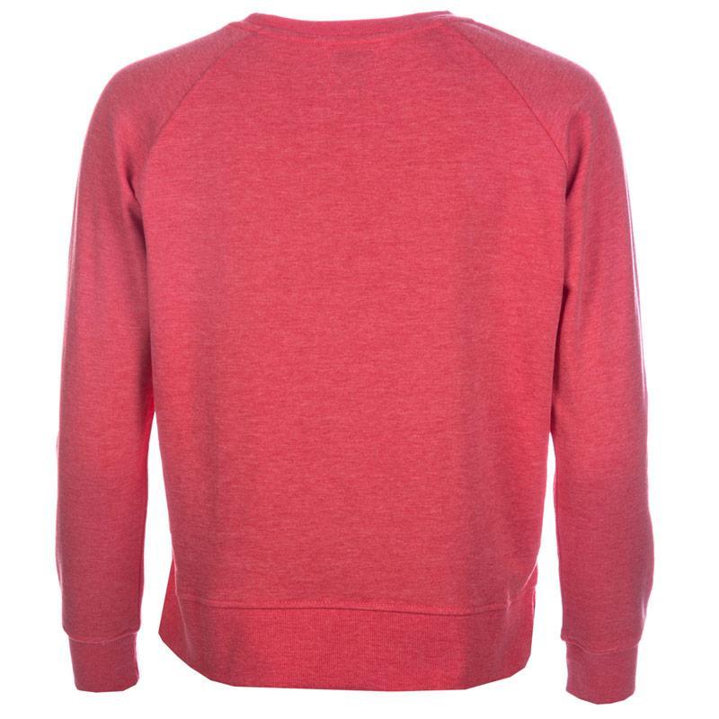 Mikina Only Womens Lotus Marl Crew Neck Sweatshirt Coral
