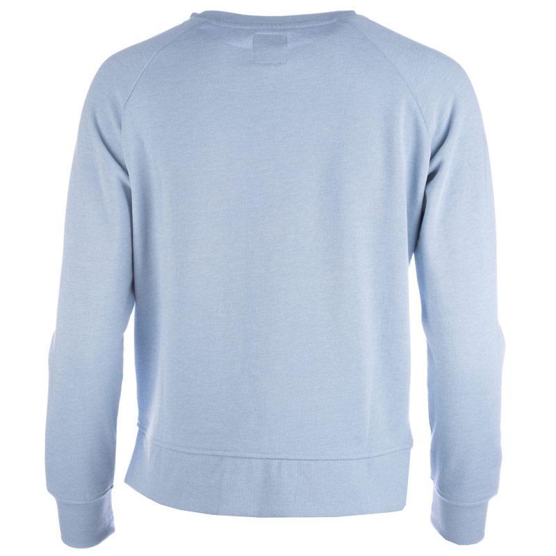 Mikina Only Womens Lotus Marl Crew Neck Sweatshirt Blue