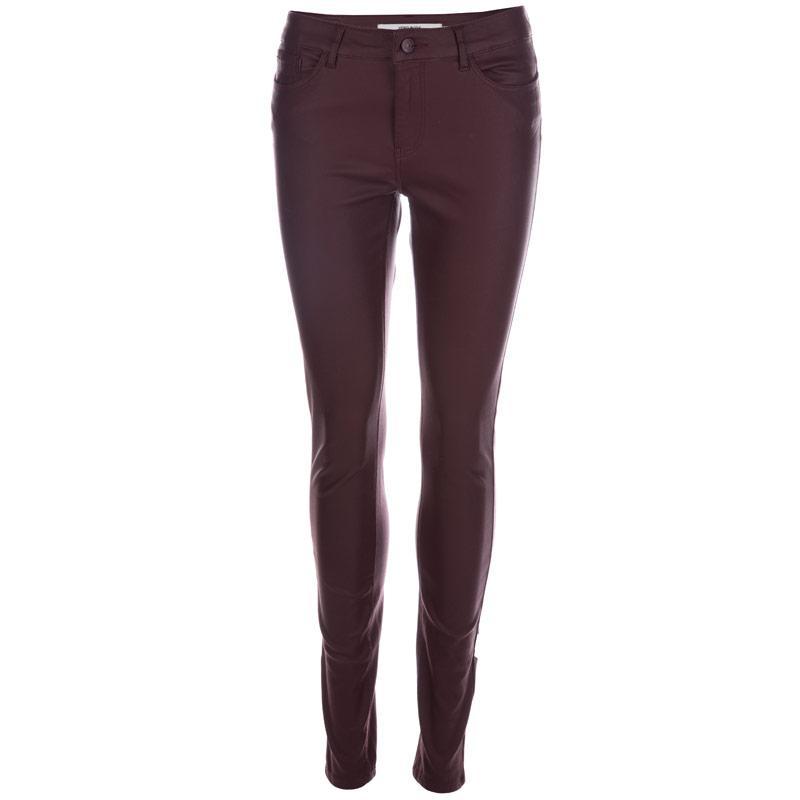Kalhoty Vero Moda Womens Seven Smooth Pants Chocolate