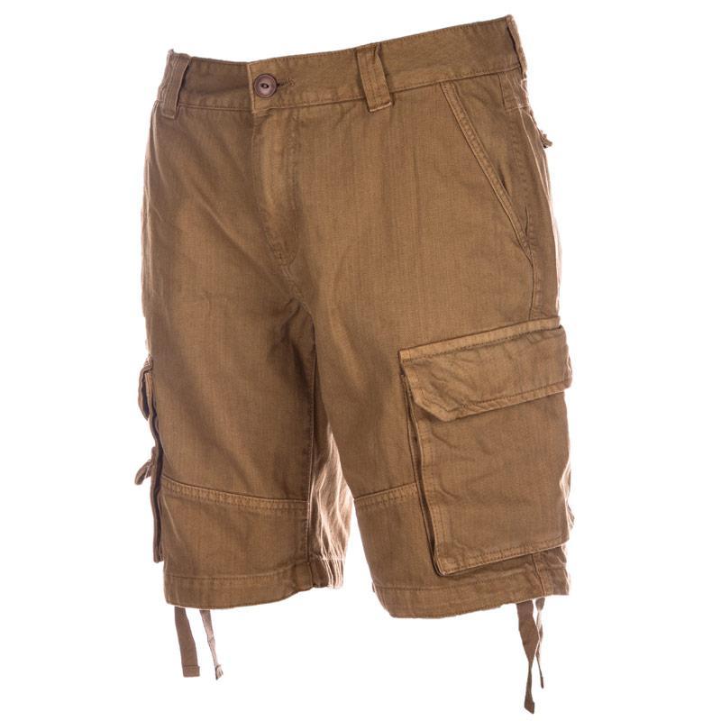 D-Struct Mens Conard Cargo Shorts Brown