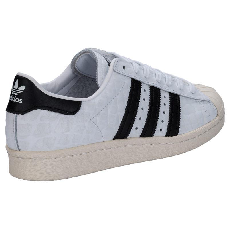 Adidas Originals Womens Superstar 80s Trainers White 6fb57e6eeaf