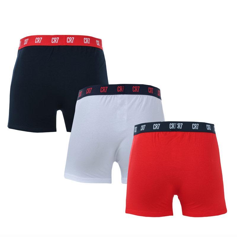 Spodní prádlo Mens CR7 3 Pack Boxer Shorts Black