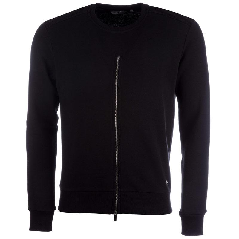 Mikina Eto Mens Hurricane Crew Sweat Black