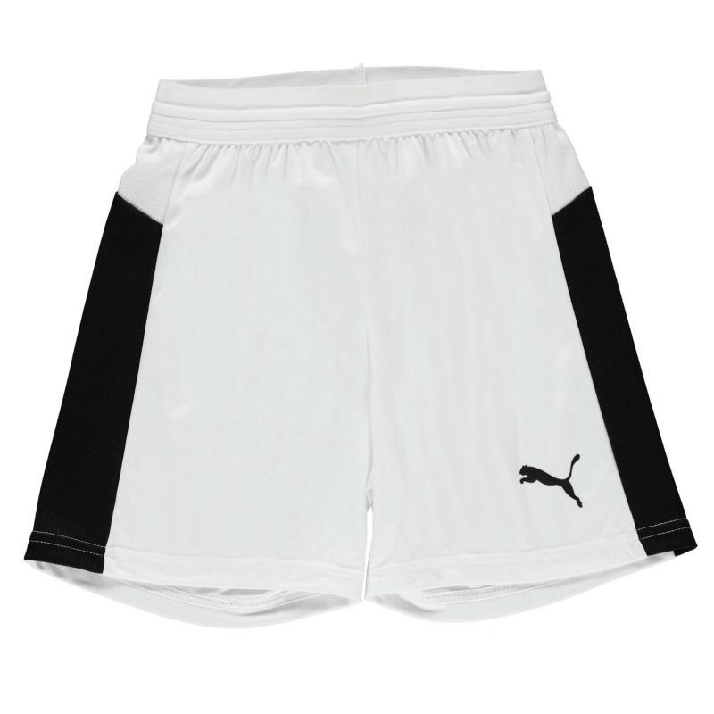 Tričko Puma Evo Training Football Shorts Junior Boys White/Black