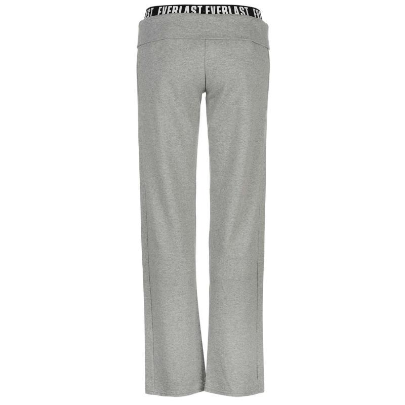 Sportovní kalhoty Everlast Open Hem Inter Lock Sweat Pants Ladies Grey Marl