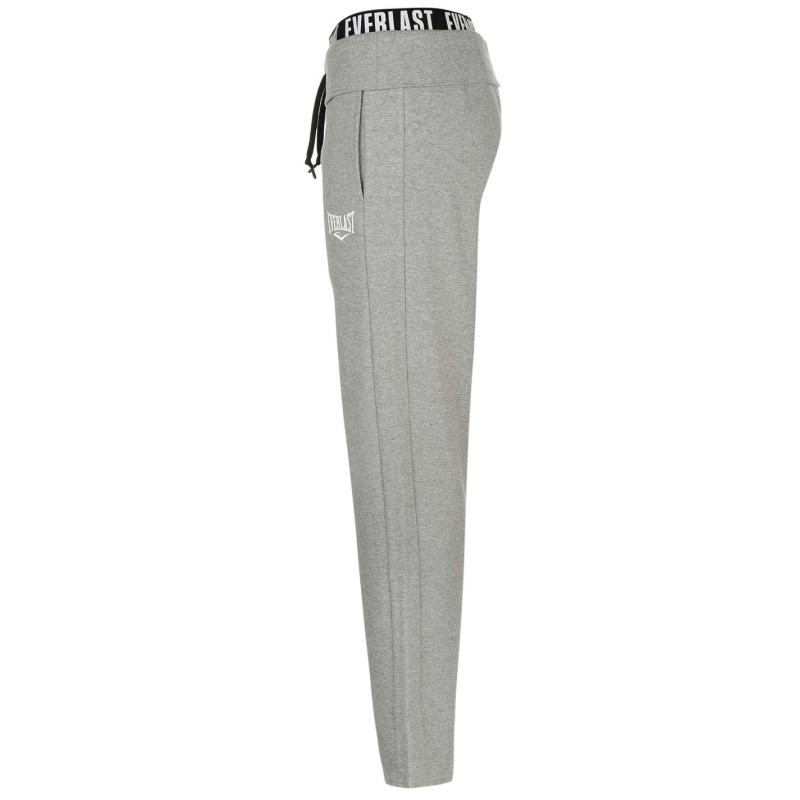 Everlast Open Hem Inter Lock Sweat Pants Ladies Grey Marl