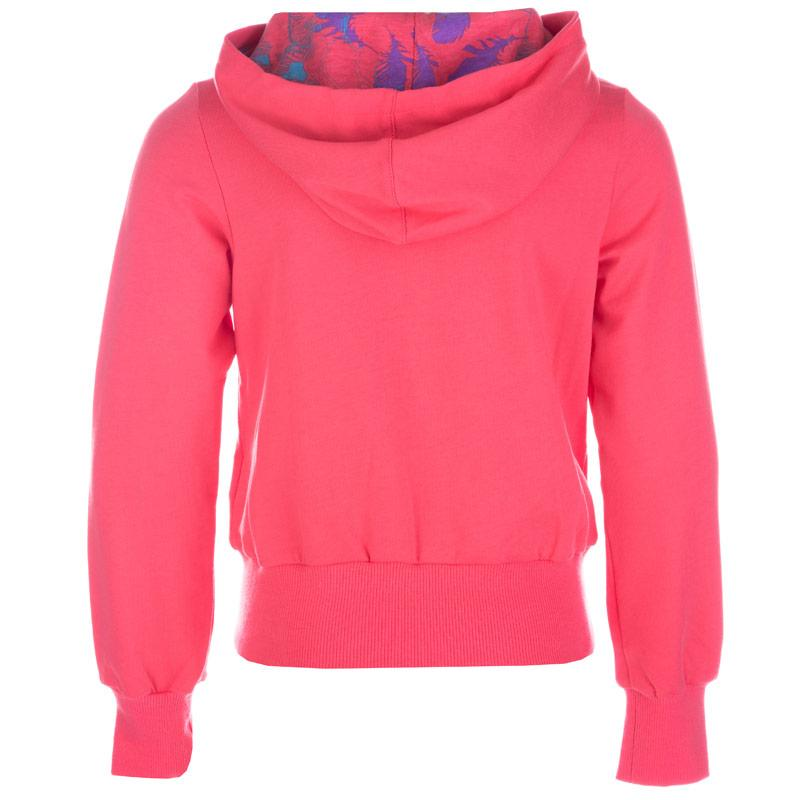 Puma Infant Girls Logo Zip Hoody Coral