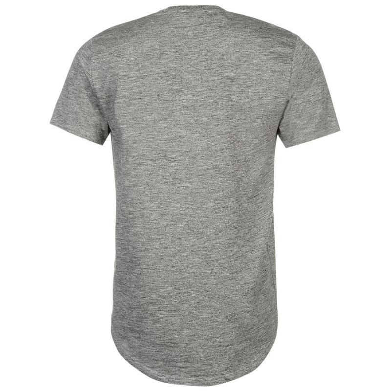 Tričko Only and Sons Drake Curved T Shirt Mens Light Grey Mel