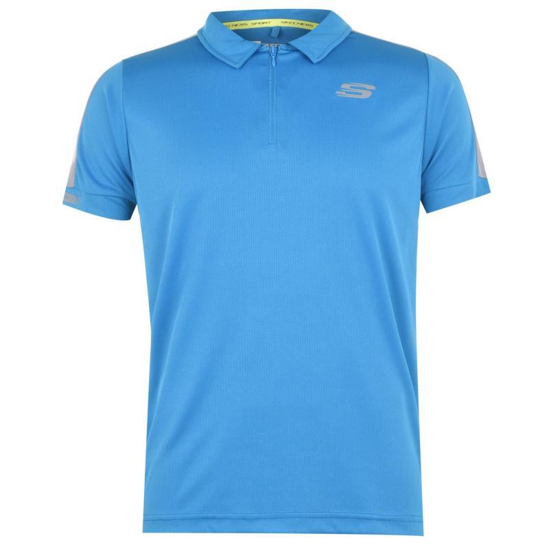 Skechers Mesh Polo Shirt Blue