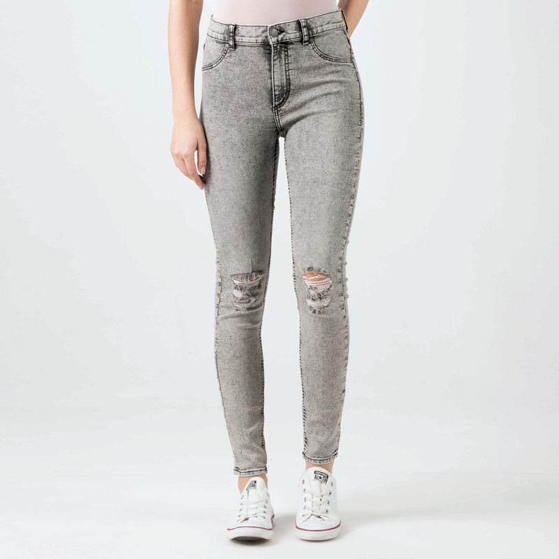 Cheap Monday Womens High Spray Jeans Grey