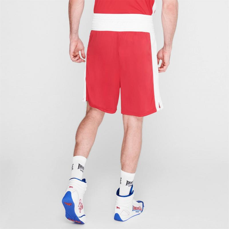 Lonsdale Box Short Mens Red/White