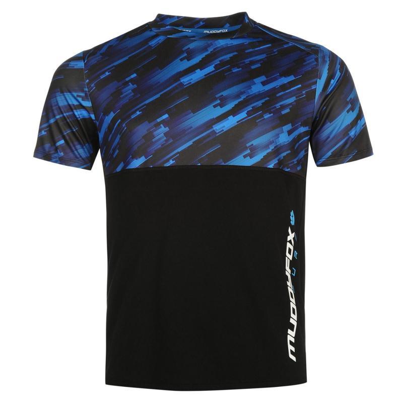 Tričko Muddyfox Pure MS Jersey Mens Black/Blue