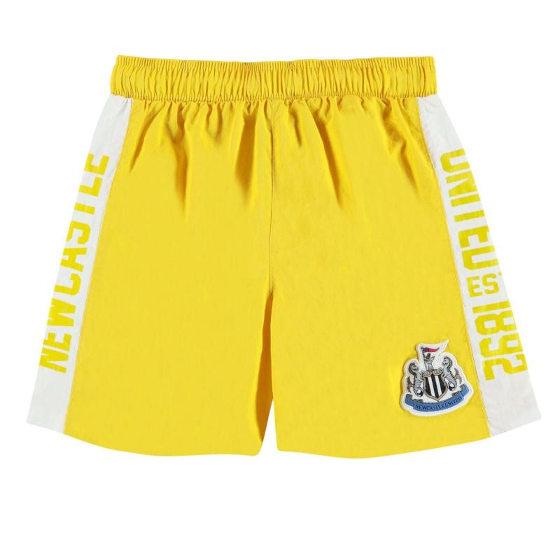NUFC Newcastle United Swim Shorts Infant Boys Yellow