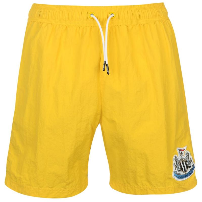 NUFC Newcastle United Swim Shorts Mens Yellow