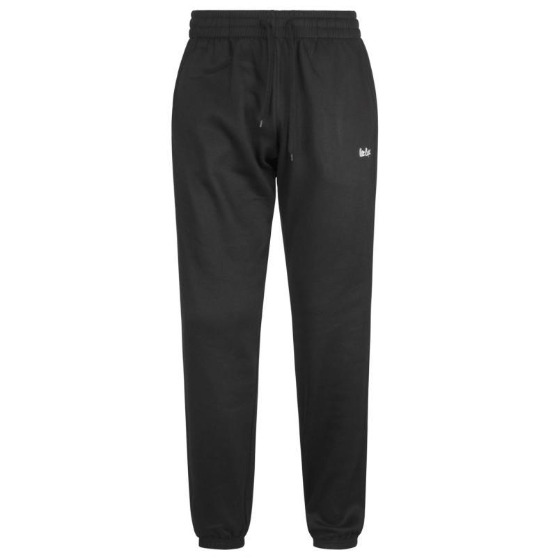 Tepláky Lee Cooper Fleece Jogging Bottoms Mens Black