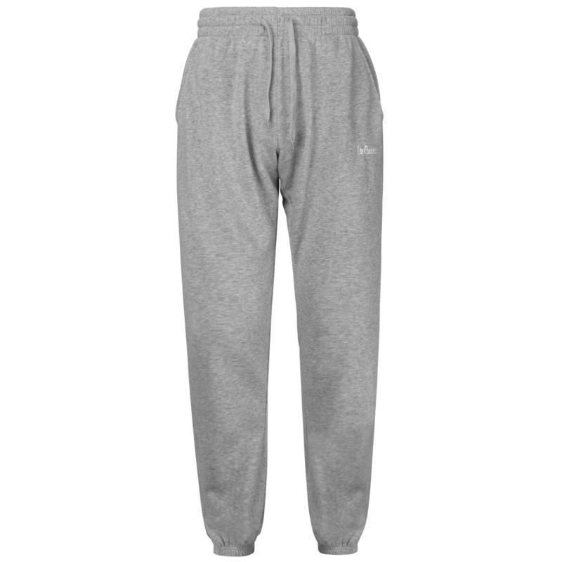 Tepláky Lee Cooper Fleece Jogging Bottoms Mens Grey