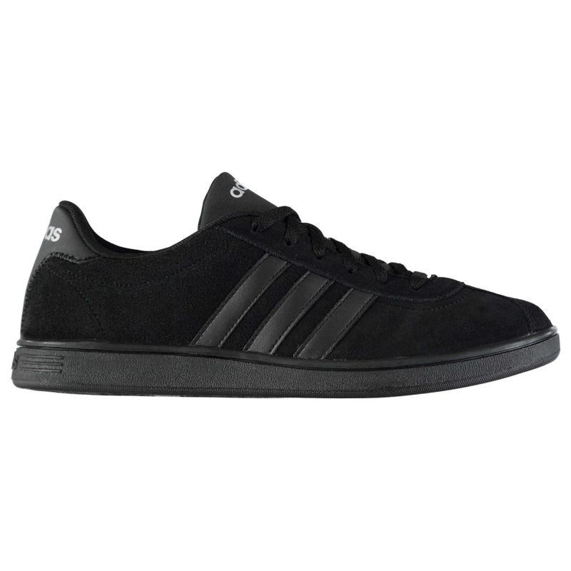 Adidas VL Court Suede Trainers Triple Black
